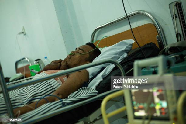 Andriadi Putra was seen in the hospital room after he had finished the surgery at Accu Plast Hospital, in Medan, North Sumatra. A MAN who was living...