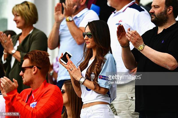 Andriani Michael girl friend of Jack Wilshire of England is seen prior to the UEFA EURO 2016 Group B match between England and Wales at Stade...
