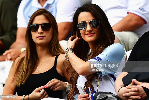 Andriani Michael girl friend of Jack Wilshire of England prior to the UEFA EURO 2016 Group B match between England and Wales at Stade BollaertDelelis...