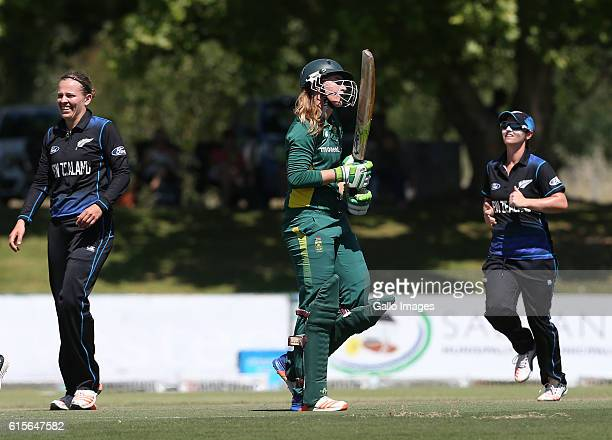 Andrie Steyn of South Africa during the 5th Women's ODI match between South Africa and New Zealand at Boland Park on October 19 2016 in Paarl South...