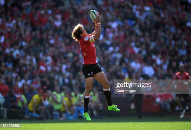 Andries Coetzee during the Super Rugby Semi Final match between Emirates Lions and Hurricanes at Emirates Airline Park on July 29 2017 in...