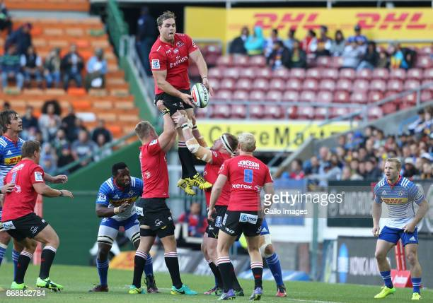 Andries Ferreira of Lions during the Super Rugby match between DHL Stormers and Emirates Lions at DHL Newlands on April 15 2017 in Cape Town South...