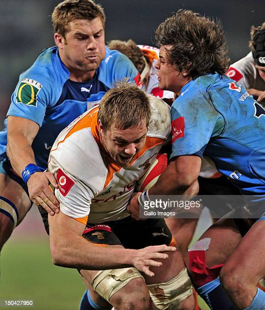 Andries Ferreira of the Cheetahs during the Absa Currie Cup match between Toyota Free State Cheetahs and Vodacom Blue Bulls at Free State Stadium on...