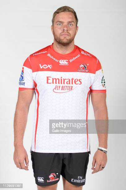 Andries Ferreira of the Lions during the Emirates Lions Headshots at Emirates Airline Park on January 24 2019 in Johannesburg South Africa