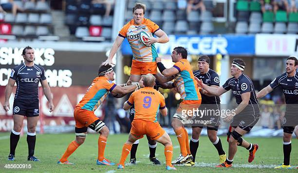 Andries Ferreira of the Toyota Cheetahs during the Super Rugby match between Cell C Sharks and Toyota Cheetahs at Growthpoint Kings Park on April 19...