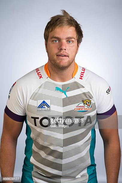 Andries Ferreira poses during a Cheetahs Super Rugby headshots session on January 27 2014 in Bloemfontein South Africa