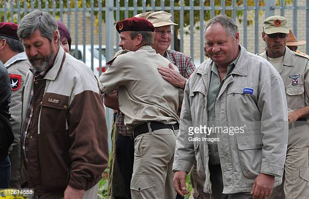 Andries Terre'blanche the brother of Eugene Terre'blanche attends the first day of the trial of Chris Mahlangu at Ventersdorp magistrates court where...