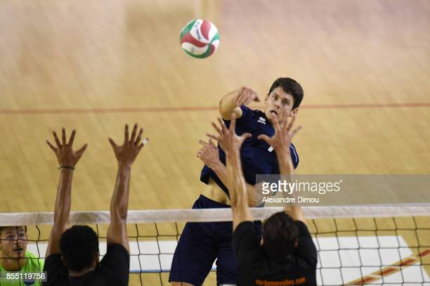 Andrii Diachkov of Montpellier during the Volleyball friendly match on September 22 2017 in Montpellier France