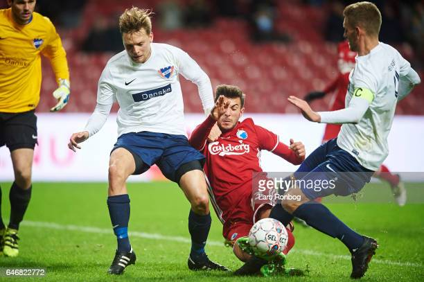 Andrija Pavlovic of FC Copenhagen in action during the Danish Cup DBU Pokalen match match between B93 and FC Copenhagen at Telia Parken Stadium on...
