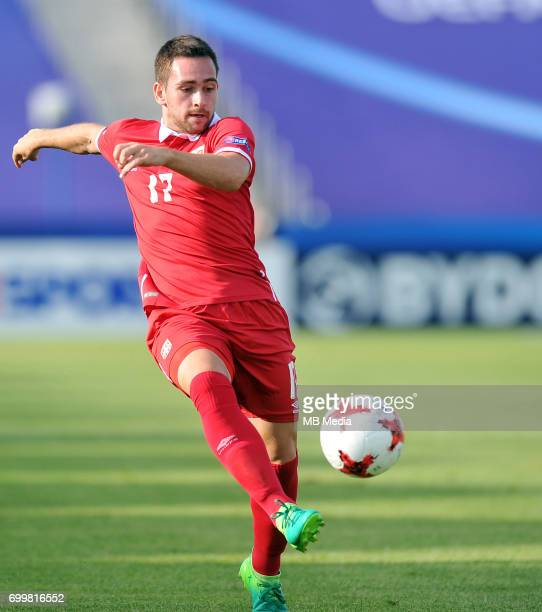 Andrija Zivkovic during the UEFA European Under21 match between Serbia and FYR Macedonia at Arena Bydgoszcz on June 20 2017 in Bydgoszcz Poland