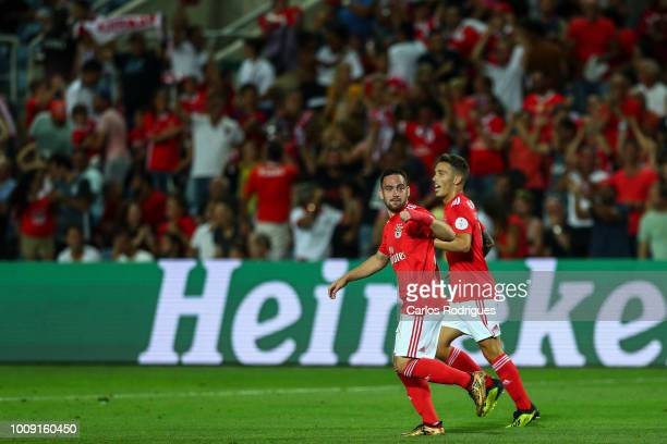 Andrija Zivkovic from SL Benfica celebrates scoring Benfica second goal during the match between SL Benfica v Lyon for the International Champions...