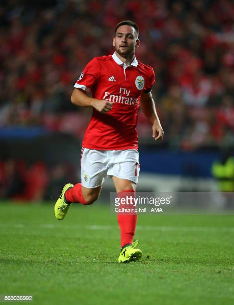 Andrija Zivkovic of Benfica during the UEFA Champions League group A match between SL Benfica and Manchester United at Estadio da Luz on October 18...