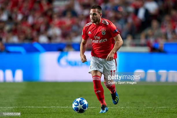 Andrija Zivkovic of Benfica in action during the Group E match of the UEFA Champions League between SL Benfica and FC Bayern Muenchen at Estadio da...