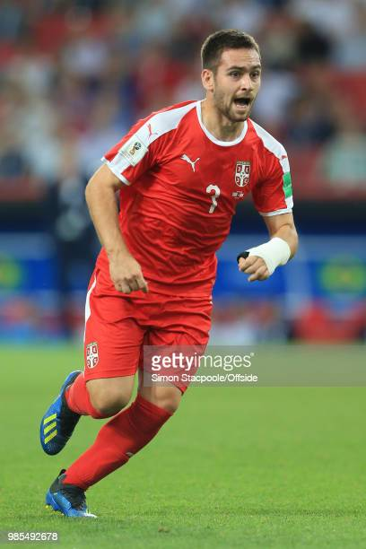Andrija Zivkovic of Serbia during the 2018 FIFA World Cup Russia Group E match between Serbia and Brazil at Spartak Stadium on June 27 2018 in Moscow...