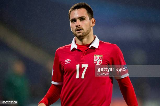 Andrija Zivkovic of Serbia during the UEFA European Under21 Championship 2017 Group B match between Serbia and Spain at Bydgoszcz Stadium in...