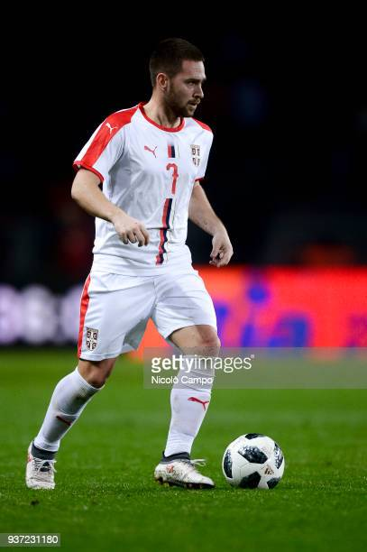 Andrija Zivkovic of Serbia in action during the International friendly football match between Morocco and Serbia Morocco won 21 over Serbia