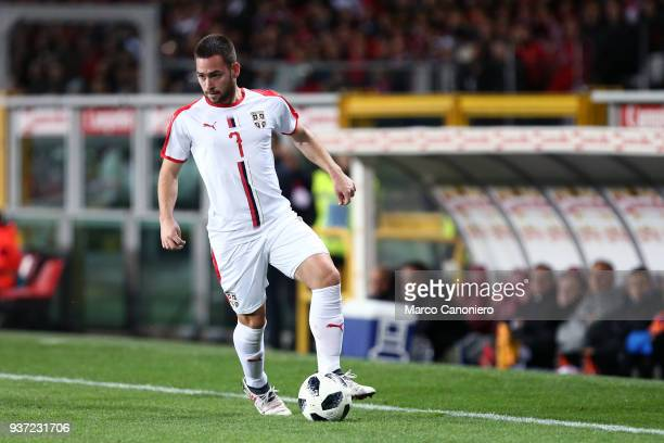 Andrija Zivkovic of Serbia in action during the international friendly match between Serbia and Morocco Morocco wins 21 over Serbia
