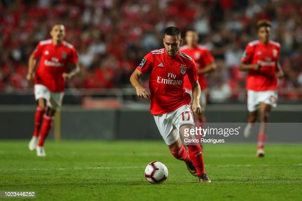 Andrija Zivkovic of SL Benfica during the Liga NOS match between SL Benfica and Sporting CP for the third round of Liga NOS at Estadio da Luz on...