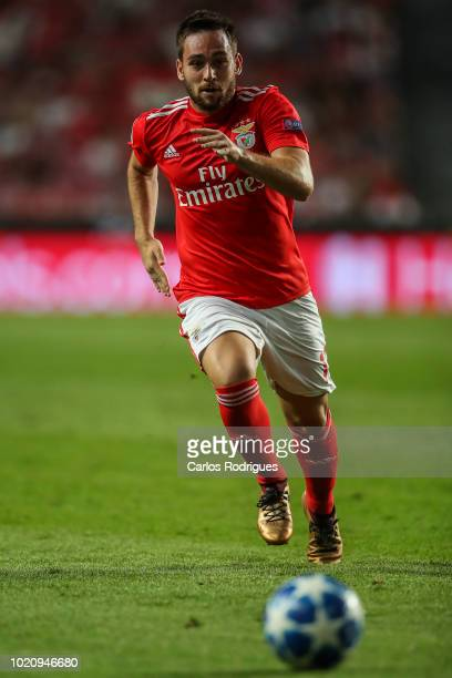Andrija Zivkovic of SL Benfica during the match between SL Benfica and PAOK for the UEFA Champions League Play Off at Estadio da Luz on August 21...