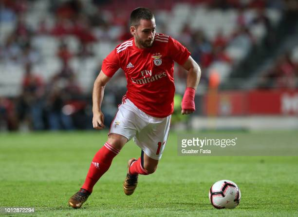 Andrija Zivkovic of SL Benfica in action during the UEFA Champions League Qualifier match between SL Benfica and Fenerbache at Estadio da Luz on...