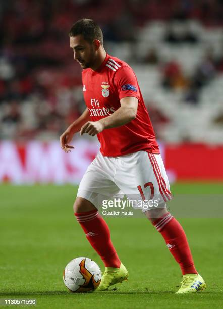 Andrija Zivkovic of SL Benfica in action during the UEFA Europa League Round of 16 Second Leg match between SL Benfica and Dinamo Zagreb at Estadio...