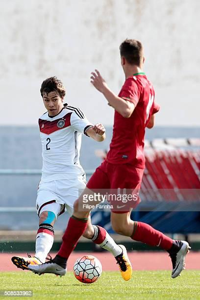 Andriko Smolinski of Germany during the UEFA Under16 match between U16 Portugal v U16 Germany on February 4 2016 in Vila Real de Santo Antonio...