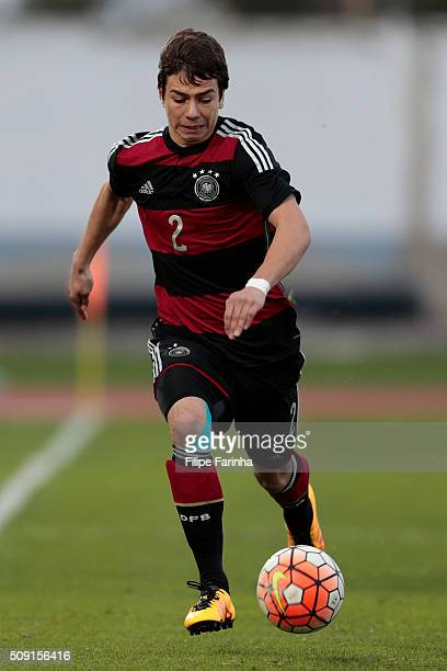 Andriko Smolinski of Germany during the UEFA Under16 match between U16 France v U16 Germany on February 6 2016 in Vila Real de Santo Antonio Portugal