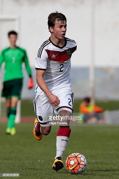 Andriko Smolinski of Germany during the UEFA Under16 match between U16 Germany v U16 Netherlands on February 8 2016 in Vila Real de Santo Antonio...