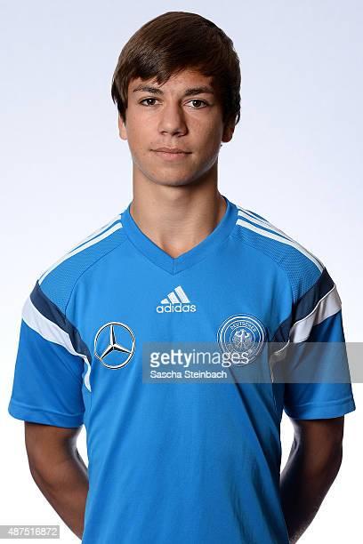 Andriko Smolinski poses during the Germany U16 team presentation on September 10 2015 in Waterloo Belgium