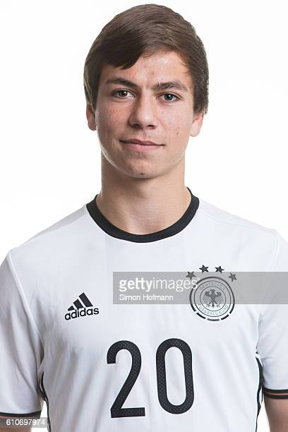 Andriko Smolinski poses during the Germany U17 Team Presentation on September 26 2016 in Frankfurt am Main Germany