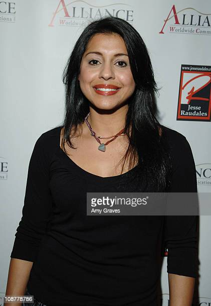 Andrina Rios during Jesse Raudales and Terrence Howard Peace for the Children Art Show at PounderKone Artspace in Glendale California United States