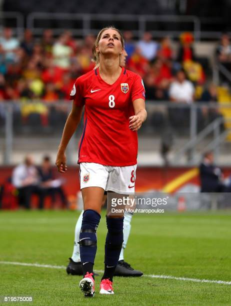 Andrine Hegerberg of Norway reacts during the UEFA Women's Euro 2017 Group A match between Norway and Belgium at Rat Verlegh Stadion on July 20 2017...