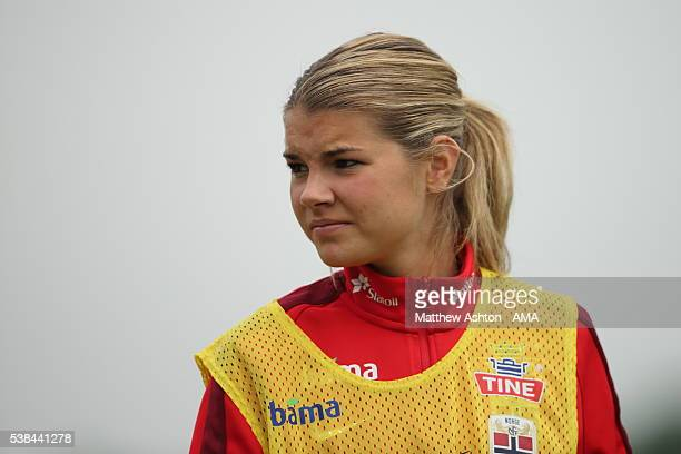 Andrine Hegerberg of Norway Woman U23 during the U23 Women u2019s Nordic Tournament between USA and Norway at St Georges Park on June 4 2016 in...