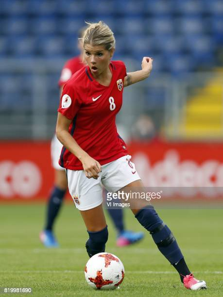 Andrine Hegerberg of Norway women during the UEFA WEURO 2017 Group A group stage match between Norway and Belgium at the Rat Verlegh stadium on July...