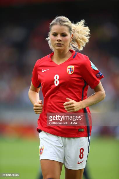 Andrine Hegerberg of Norway Women during the UEFA Women's Euro 2017 match between Norway and Belgium at Rat Verlegh Stadion on July 20 2017 in Breda...