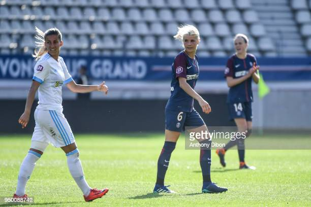 Andrine Hegerberg of PSG during the French Women's Division 1 match between Paris Saint Germain and Marseille at Stade Jean Bouin on April 21 2018 in...