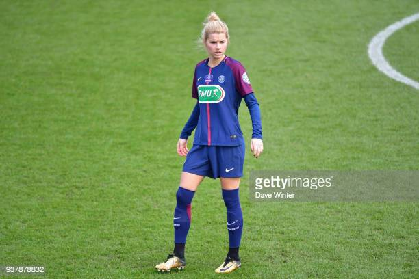 Andrine Hegerberg of PSG during the Women's National Cup match between Paris Saint Germain and Rodez on March 25 2018 in Paris France