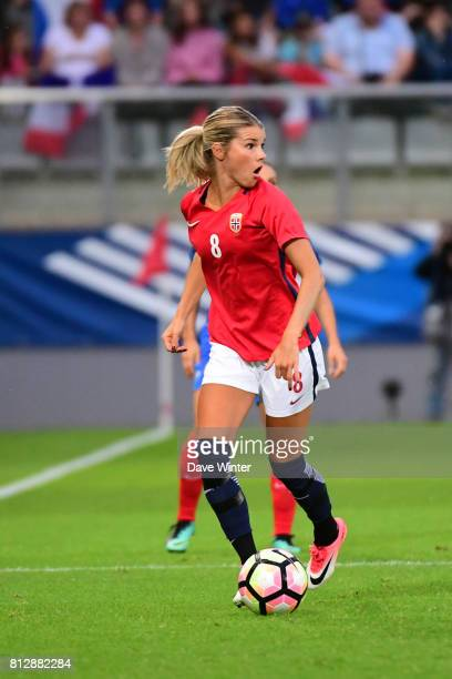 Andrine Stolsmo Hegerberg of Norway during the women's international friendly match between France and Norway on July 11 2017 in Sedan France