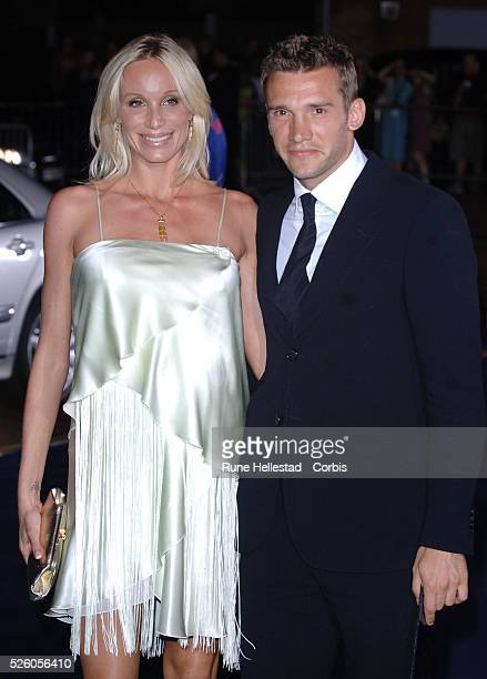 Andriy and Kristen Shevchenko attends the Armani RED One Night Only event at Earl's Court