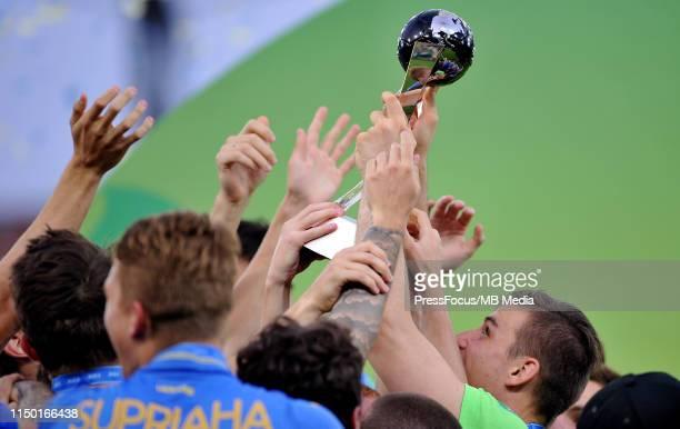 Andriy Lunin of Ukraine celebrates winning the World Championship after the FIFA U20 World Cup match between Ukraine and Korea Republic on June 15...