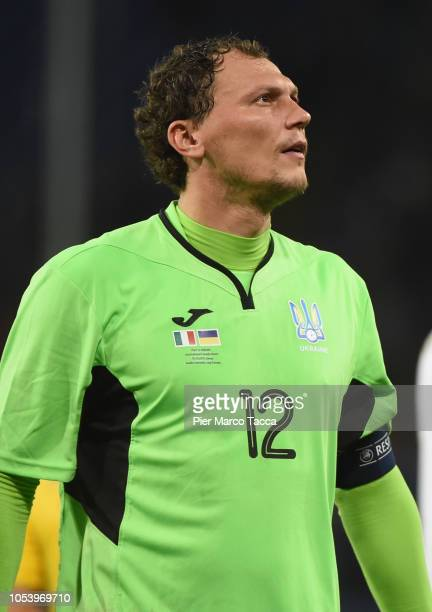 Andriy Pyatov Goalkeeper of Ukraine looks during the International Friendly match between Italy and Ukraine on October 10 2018 in Genoa Italy