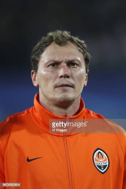 Andriy Pyatov of FC Shakhtar Donesk during the UEFA Champions League group F match between Feyenoord Rotterdam and Shakhtar Donetsk at the Kuip on...