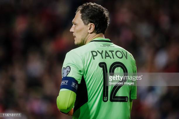 Andriy Pyatov of Ukraine during the EURO Qualifier match between Portugal v Ukraine at the Estádio da Luz on March 22 2019 in Lissabon Portugal