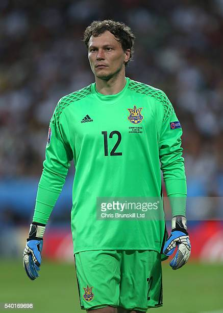 Andriy Pyatov of Ukraine looks on during the UEFA Euro 2016 Group C match between Germany and Ukraine at Stade PierreMauroy on June 12 2016 in Lille...