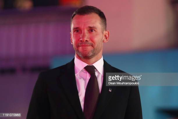 Andriy Schevchenko, manager of Ukraine arrives at the UEFA Euro 2020 Final Draw Ceremony at the Romexpo on November 30, 2019 in Bucharest, Romania.