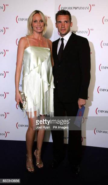 Andriy Shevchenko and his wife Kristen Pazik arrive for the charity gala screening of The Devil Wears Prada at the Odeon Leicester Square central...
