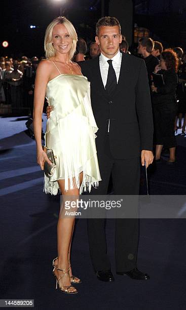 Andriy Shevchenko and Kristen Pazik attending the Emporio Armani fashion show during London Fashion Week spring / summer 2007 Earls Court London 21st...