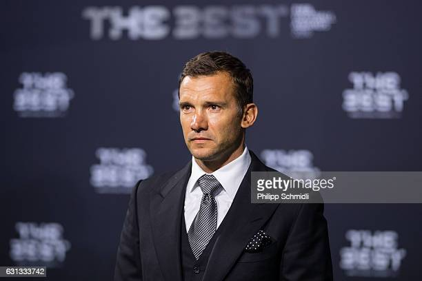 Andriy Shevchenko arrives for The Best FIFA Football Awards 2016 on January 9 2017 in Zurich Switzerland