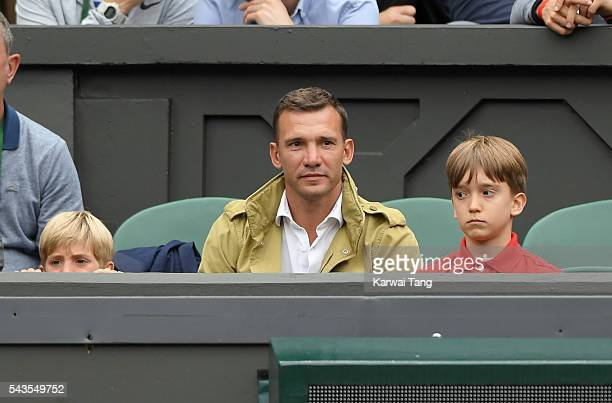 Andriy Shevchenko attends day three of the Wimbledon Tennis Championships at Wimbledon on June 29 2016 in London England