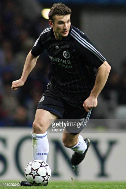 Andriy Shevchenko during a UEFA Champions League First Leg match between Chelsea and FC Porto in Porto Portugal on February 21 2007